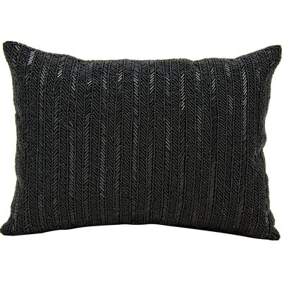 Michael Amini Throw Pillow Color: Black