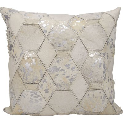 Michael Amini Throw Pillow Color: White/Silver