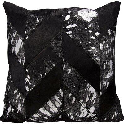 Kathy Ireland Throw Pillow Color: Black/Silver