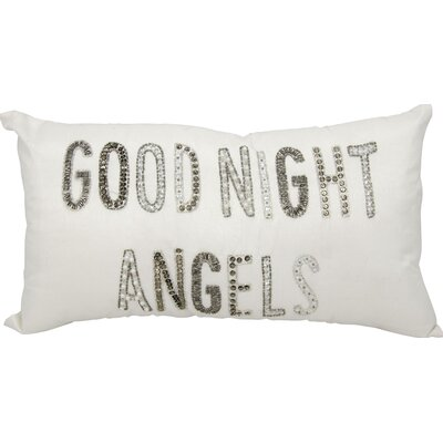 Good Night Angels Lumbar Pillow Color: White