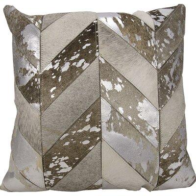 Kathy Ireland Throw Pillow Color: Silver/Gray