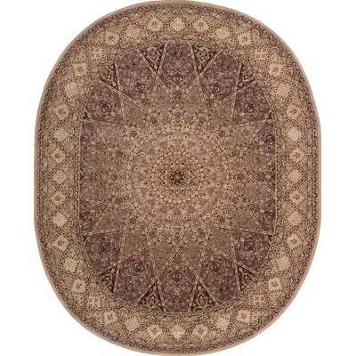2000 Hand Woven Wool Lavender/Brown Indoor Area Rug Rug Size: Oval 76 x 96