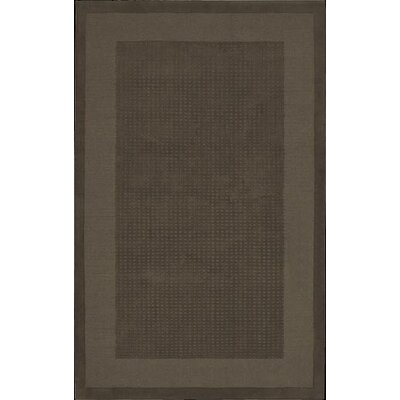 Aspasia Hand-Tufted Mocha Area Rug Rug Size: Rectangle 5 x 8
