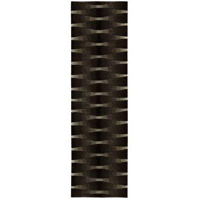 Moda Hand-Tufted Onyx Area Rug Rug Size: Runner 23 x 8