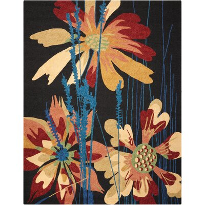 Shaundrel Hand-Woven Black/Orange Indoor/Outdoor Area Rug Rug Size: Rectangle 5 x 76
