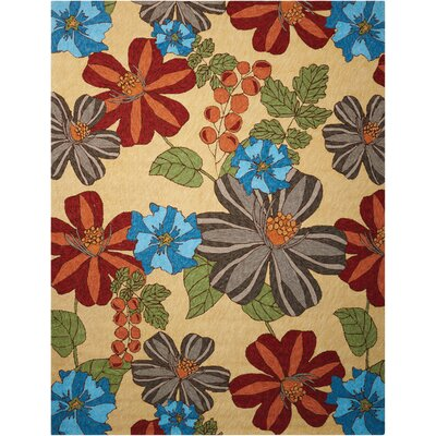 Towanda Hand-Woven Beige/Brown/Blue Indoor/Outdoor Area Rug Rug Size: Rectangle 5 x 76