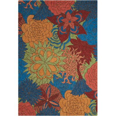 Jeffry Hand-Woven Blue/Orange/Red Indoor/Outdoor Area Rug Rug Size: Rectangle 8 x 106