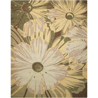 Marge Hand-Woven Beige/Green Indoor/Outdoor Area Rug Rug Size: Rectangle 10 x 13