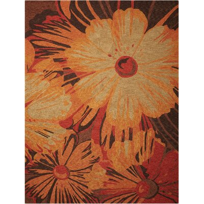 Minna Hand-Woven Orange/Brown Indoor/Outdoor Area Rug Rug Size: Rectangle 5 x 76