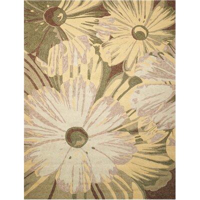 Marge Hand-Woven Beige/Green Indoor/Outdoor Area Rug Rug Size: Rectangle 5 x 76