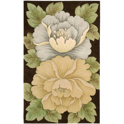 Newbury Brown Novelty Area Rug Rug Size: Rectangle 36 x 56