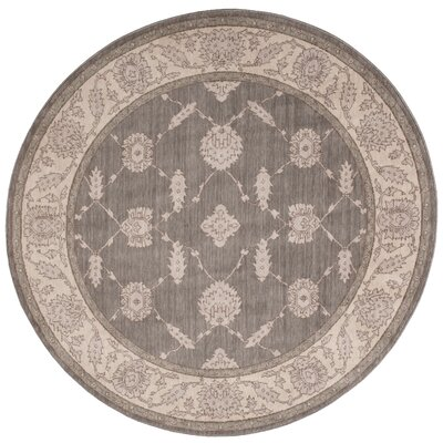 New Horizons Pewter Area Rug Rug Size: Round 6