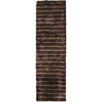 Urban Safari Hand-Tufted Mahogany Area Rug Rug Size: Runner 23 x 8