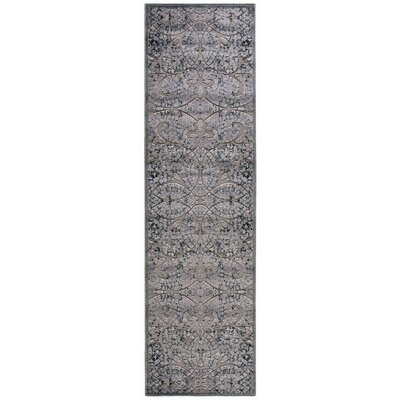 Illusions Gray Area Rug Rug Size: Runner 23 x 8