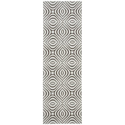 Conforti Gray Area Rug Rug Size: Runner 26 x 8