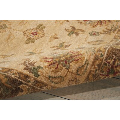 Degory Hand-Knotted Beige Area Rug Rug Size: Rectangle 8'6
