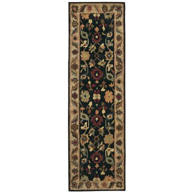 Tahoe Hand-Knotted Black Area Rug Rug Size: Runner 23 x 8