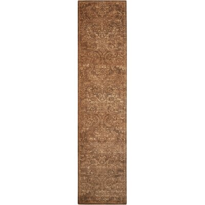 Silken Allure Chocolate Area Rug Rug Size: Runner 25 x 10
