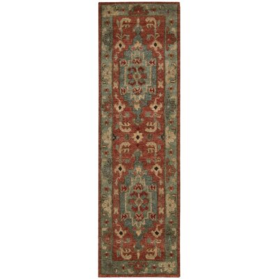 Tahoe Hand-Knotted Rust Area Rug Rug Size: Runner 23 x 8