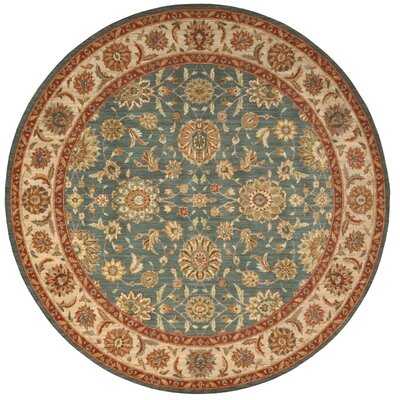 Crownover Teal Blue/Tan Area Rug Rug Size: Round 510