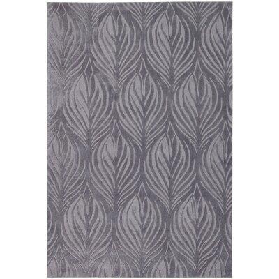 Contour Hand-Tufted Slate Area Rug Rug Size: 5 x 76