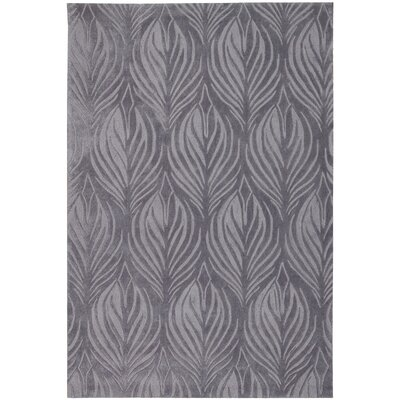Rhames Hand-Tufted Slate Area Rug Rug Size: Rectangle 73 x 93
