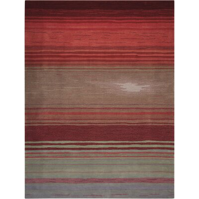 Fenoglio Hand-Tufted Red Area Rug Rug Size: Rectangle 36 x 56