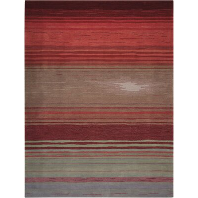 Fenoglio Hand-Tufted Red Area Rug Rug Size: 73 x 93