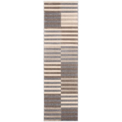 Kaiti Brown/Gray Area Rug Rug Size: Rectangle 110 x 6