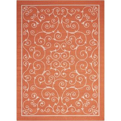 Home & Garden Orange Indoor/Outdoor Area Rug Rug Size: 79 x 1010