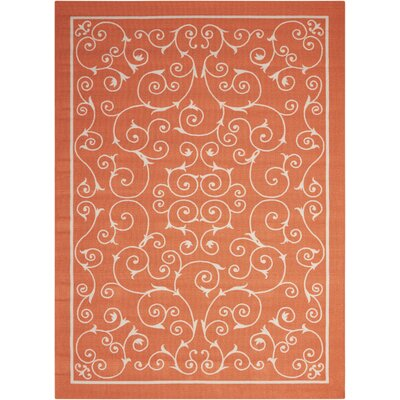 Home & Garden Orange Indoor/Outdoor Area Rug Rug Size: 53 x 75