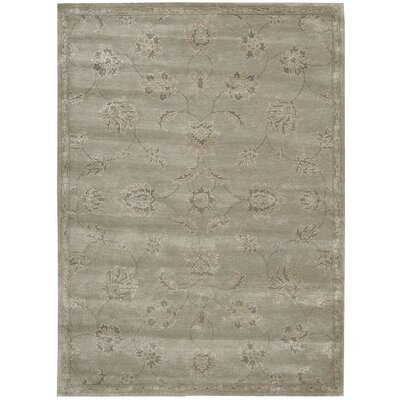 Superlative Hand-Tufted Silver Area Rug Rug Size: 76 x 96