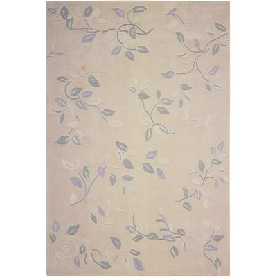 Contour Hand-Tufted Cream Area Rug Rug Size: 73 x 93