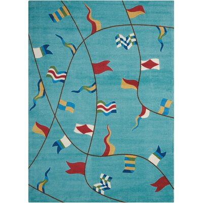 Thatcher Aqua Area Rug Rug Size: Rectangle 26 x 4