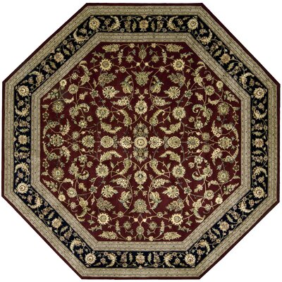2000 Red Area Rug Rug Size: Octagon 10