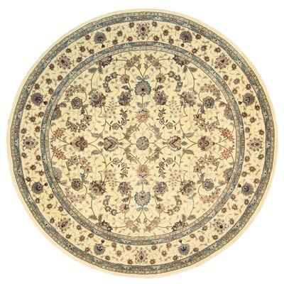 Ellerswick Hand Woven Wool Beige Indoor Area Rug Rug Size: Round 8