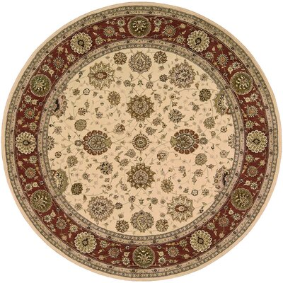 2000 Hand-Tufted Ivory Area Rug Rug Size: Round 6