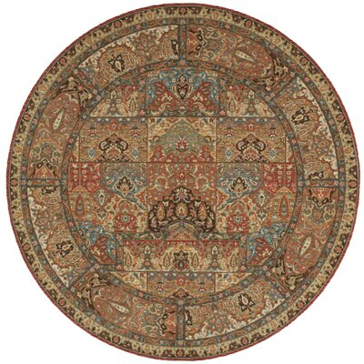 Crownover Wool Brown Area Rug Rug Size: Round 510