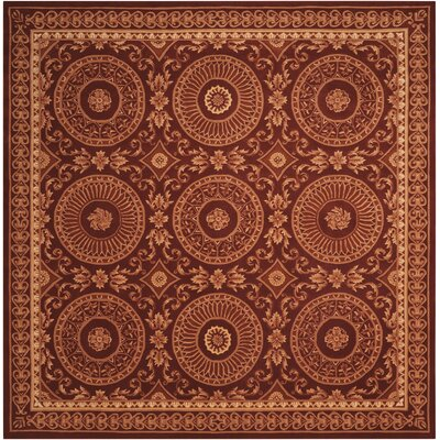Brownlee Hand-Tufted Brick Area Rug Rug Size: Square 8