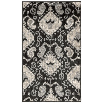 Kindred Black Outdoor Rug Rug Size: 23 x 39