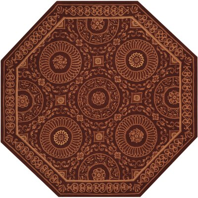 Versailles Palace Hand-Tufted Brick Area Rug Rug Size: Octagon 6