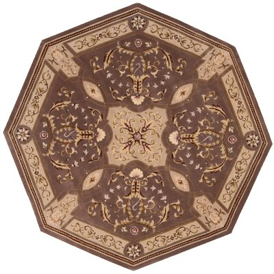Brownlee Oriental Brown/Tan Area Rug Rug Size: Octagon 6