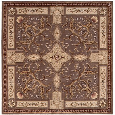 Versailles Palace Brown/Tan Area Rug Rug Size: Square 8'