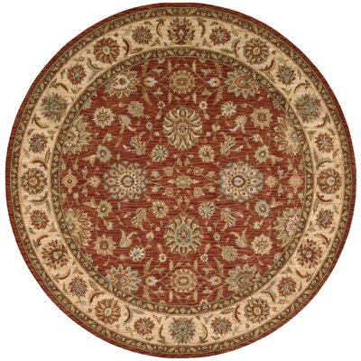 Crownover Wool Rust Area Rug Rug Size: Round 510