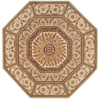 Brownlee Brown/Tan Area Rug Rug Size: Octagon 6