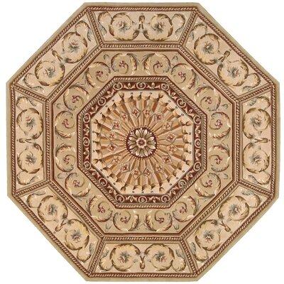 Versailles Palace Brown/Tan Area Rug Rug Size: Octagon 6