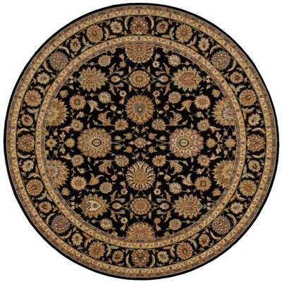 Living Treasures Black Area Rug Rug Size: Round 710