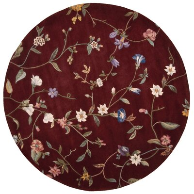 Sheron Ruby Area Rug Rug Size: Round 6