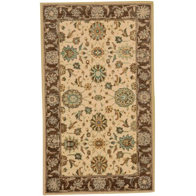 Living Treasures Beige Area Rug Rug Size: 76 x 96