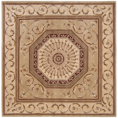 Versailles Palace Brown/Tan Area Rug Rug Size: Square 8